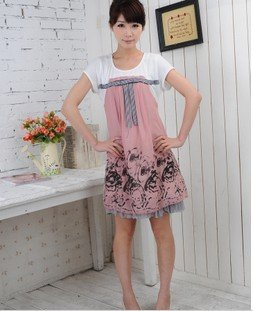 Korean Short Sleeve Cotton Anti-Allergy Anti-Bacterial Maternity Clothing