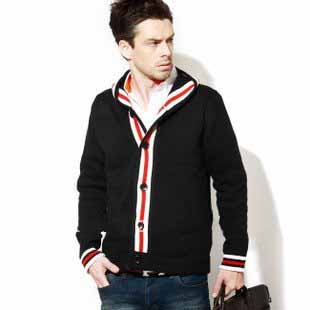 New Style Men's Long Sleeve Buttons Woolen Sweaters