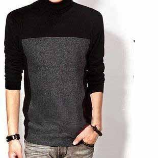 Modern Style Men's Soft Comfortable Long Sleeve Wool Sweater