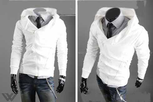 Men's Cotton Casual Zip Up Even Cap Jacket
