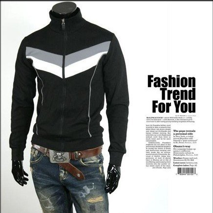 Men's Breathable Eco-Friendly Winter Stand Collar Cotton Zipper Jacket