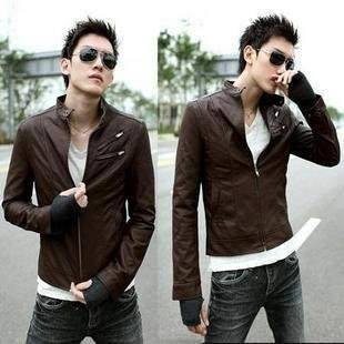 Fashion Slim Fit Stylish PU Leather High collar Zip Rider Jackets
