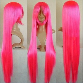 Ladies' Red Beautiful Long Straight Cosplay Wigs