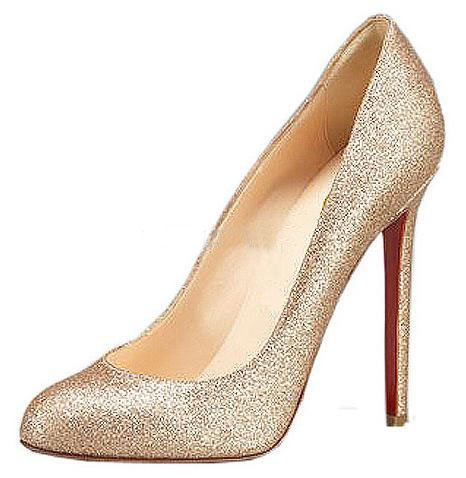 Women's Shinny Vamp Pink Gold Colour High Heel Pump Shoes