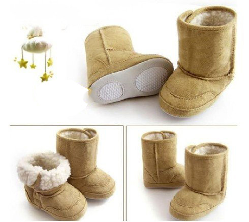 Wear-resisting Waterproof Boy Baby Winter Khaki Boots