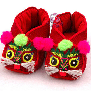 Classic Hand Sew Embroidered Soft Auspicious Longevity Baby Boots