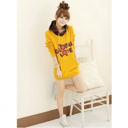Amanda49 Korea Fashion Winter New Arrival Cute Printing Long Sleeve Hooded Sweater
