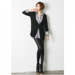 Amanda49 Fashionable Black Long Trousers For Women