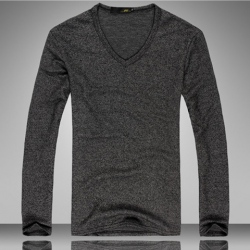 Amanda49 Top Grade Casual Style Fashionable V-Neckline Long Sleeve Knitting Sweater For Men