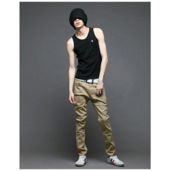 Amanda49 New Arrival Corean Fashion and Casual Style Slim and Elastic Thicken Skinny Trousers For Man