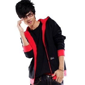 Men's Thicken Hoodies Casual Zipper Cotton Cardigan Sweatshirts