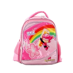 Cartton Images on Kids Backpack Girls' Waterproof Zipper Backpacks