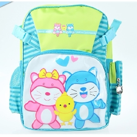 Cute Boy's Blue School Backpacks Cartton Images on Kids Backpack