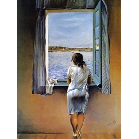 Standing by the Window Abstract on Canvas Painting Frameless Oil Painting