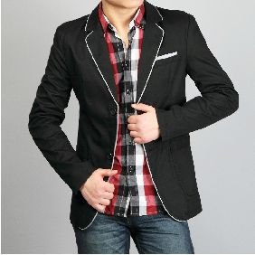 Men's Leisure Suit Simple&Plain Clothing In The Style Of Korea
