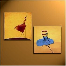 Bedroom Portraits Abstract on Canvas Painting Frameless Pure Hand-painted Oil Painting
