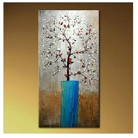Pure Hand-painted Frameless Modern Wealth Tree Living Room Oil Painting