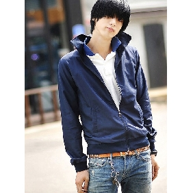Men's Light Clothes Slim Fits Korean Style Jackets With Standing Collar