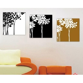 Pure Hand-painted Frameless Modern Wealth Tree European Abstract Oil Paintings