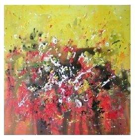 Classical Pure Hand-painted Frameless European Abstract Oil Paintings