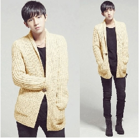 Men's Korean Style Clothing Fashion Knitting Cardigan Sweaters