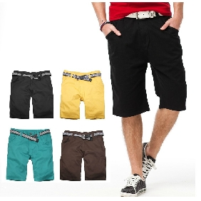 Men's 2012 Summer Pure Color Leisure Korean Shorts Pants