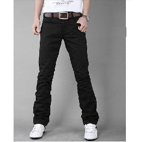 Men's Casual Korean Black Slim Fit Pants