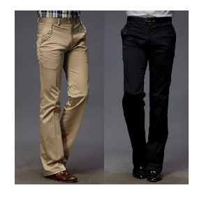 Men's Straight Legs Trousers Fashion and Leisure Pants