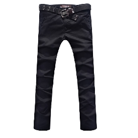Men's Straight Legs Trousers Slim Fit Pants
