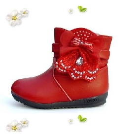 Girls' Warm Shoes Genuine Leather Baby Boots