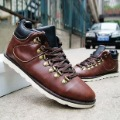 Men's Fashion Leather Rubber Zipper Casual Roman Boots