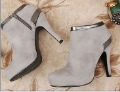 Women's Fashionable Suede High-heels Ankle Boots