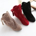 Women's Summer Bow Soft Flat Roman Ankle Boots