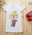 Spring Cartoon Dolls Printing Korean Women Short Sleeve T Shirt