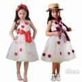 Spaghetti Straps With Ribbons Tulle & Bow Baby Dresses