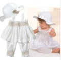White Sleeveless With Straps Baby Skirts