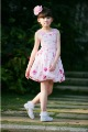 Girls Cotton Sleeveless Flowers Knee-length Skirts