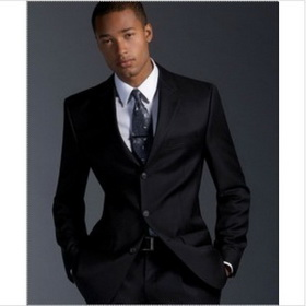Men's Black Three Buttons Gentleman Suits