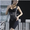 Ladies Black No Buckle No Zipper Conjoined Twins Waist Silk Protein Postpartum Model Body Underwear Shaper