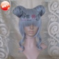 Girl Silver Grey Fashion Synthetic Fiber Cosplay Wig