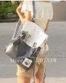 Han Edition PU Girls Pattern Bow Cortical School Backpacks