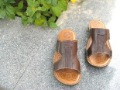Men's The First Layer of Calfskin Wear-resisting Antiskid Slippers