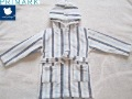 Children Cotton Towel Blue Stripe Long Sleeve Sleepwear