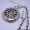 Silver Round Shape With Chain Pocket Watches