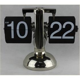 Metal Silver And Black Mechanical HE0081 Table Clocks