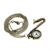 Amanda49 Style Europe Copper Pocket Watch with Chain