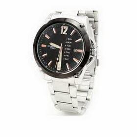 Amanda49 Exquisite Men's Analogue Quartz Black Wrist Watch Wristwatch with Date Display 6108