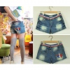 Amanda49 Fashionable and Embroidered Short Jeans