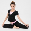 Amanda49 Special Offer Slim and Comfortable Short Sleeve Black Yoga Clothing Dance Suits