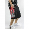 Amanda49 Hip Hop Style Street Fashion Casual Loose Hand Pattern Middle Pants